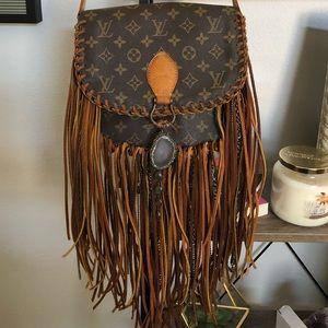 Authentic Vintage LV St Cloud Fringe Bag